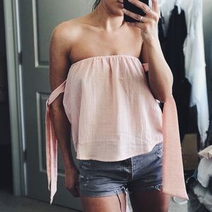 Tops - NEW // blush off the shoulder top